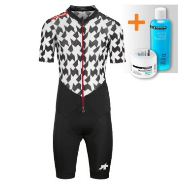 Assos S9 LeHoudini RS Aero RoadSuit zwart/wit heren