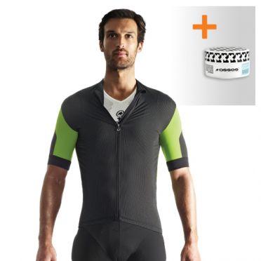 Assos SS.rallytrekkingJersey_evo7 fietsshirt groen heren + NS.skinFoilSummer_evo7