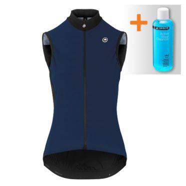 Assos Uma GT Spring fall Airblock vest blauw dames