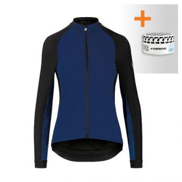 Assos Uma GT spring fall lange mouw jacket blauw dames