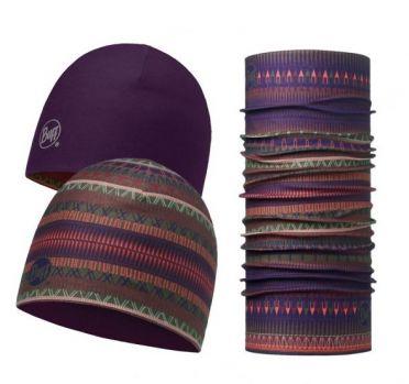 BUFF Microfiber reversible hat + original BUFF combi oslo paars