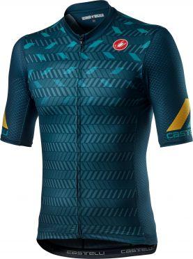 Castelli Avanti korte mouw fietsshirt blauw heren