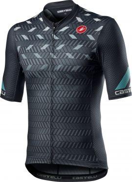Castelli Avanti korte mouw fietsshirt donkergrijs heren