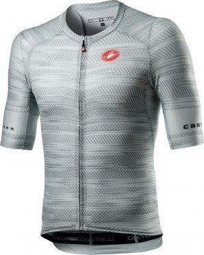 Castelli Climber's 3.0 SL korte mouw fietsshirt wit/lichtblauw heren
