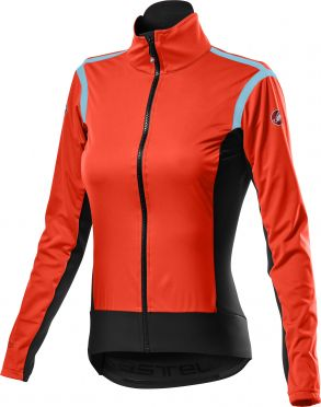 Castelli Alpha RoS 2 light fietsjack rood dames
