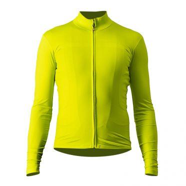 Castelli Pro thermal Mid lange mouw fietsshirt geel heren