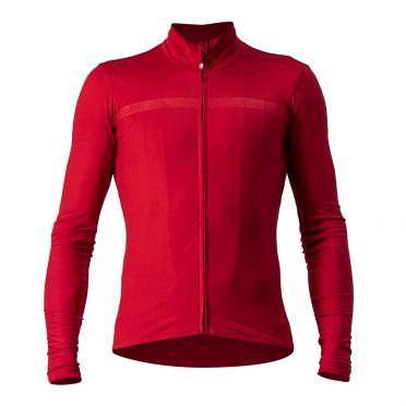 Castelli Pro thermal Mid lange mouw fietsshirt rood heren
