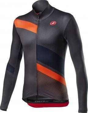Castelli Mid Thermal Pro LS fietsshirt lange mouw zwart/oranje heren