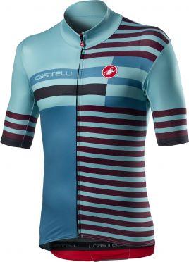 Castelli Mid Weight Pro fietsshirt korte mouw blauw heren