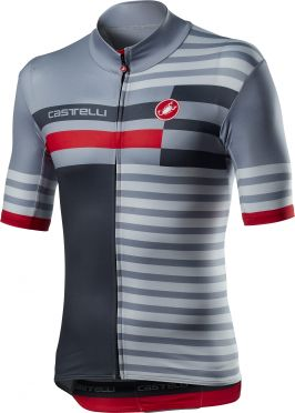 Castelli Mid Weight Pro fietsshirt korte mouw grijs heren