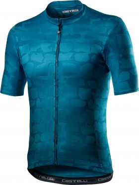 Castelli Pavé korte mouw fietsshirt blauw heren