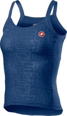 Castelli Promessa Jaquard Bavette SL top blauw dames