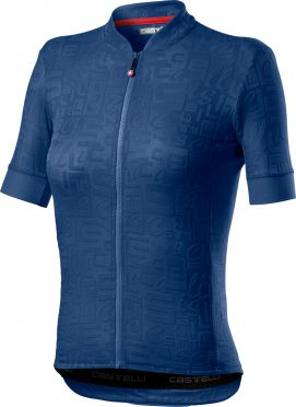 Castelli Promessa Jaquard SS fietsshirt blauw dames