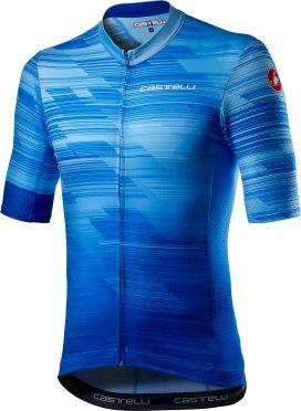 Castelli Rapido korte mouw fietsshirt blauw heren