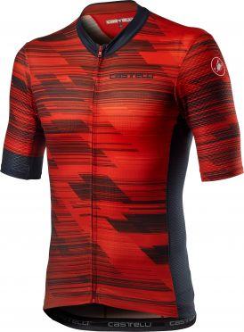 Castelli Rapido korte mouw fietsshirt rood heren