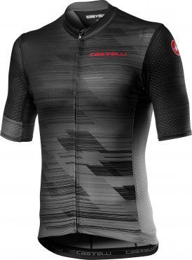 Castelli Rapido korte mouw fietsshirt zwart/grijs heren