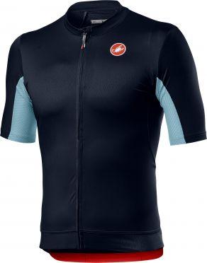 Castelli Vantaggio korte mouw fietsshirt savile blauw heren
