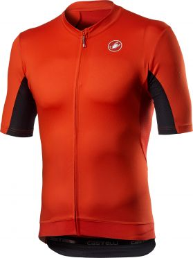 Castelli Vantaggio korte mouw fietsshirt rood heren