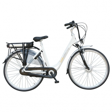 Dutchebike elektrische damesfiets city wit