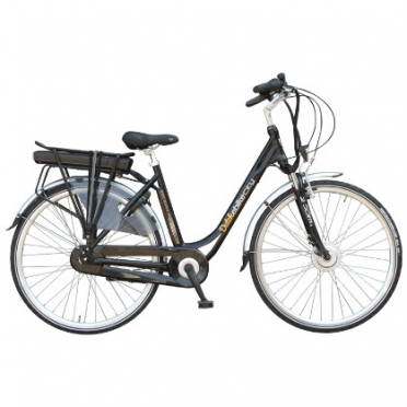 Dutchebike elektrische damesfiets city zwart