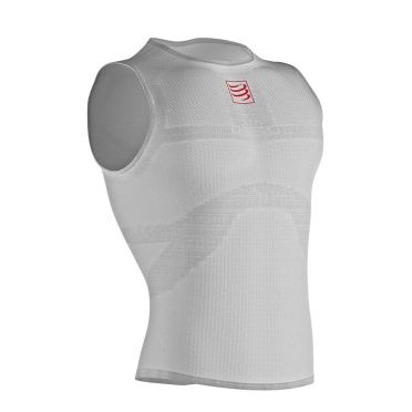Compressport 3D thermo ultralight mouwloos ondershirt wit