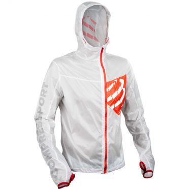 Compressport Trail hurricane jacket hardloopjack wit