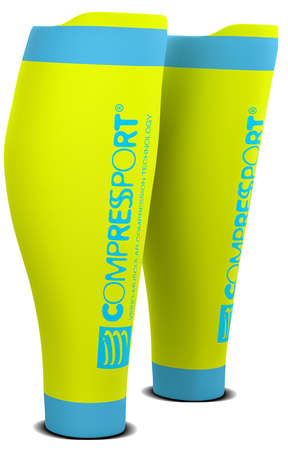 Compressport R2 v2 compressie tubes geel