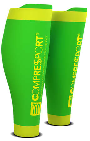 Compressport R2 v2 compressie tubes groen