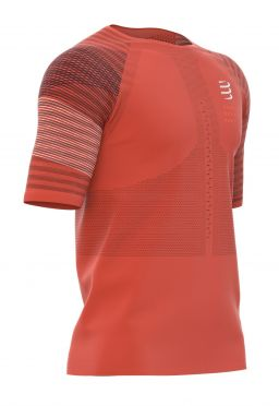 Compressport Racing ss t-shirt oranje heren