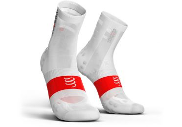 Compressport V3.0 ultralight fietssokken wit