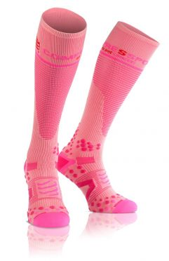 Compressport Fullsocks v2.1 compressiesokken roze