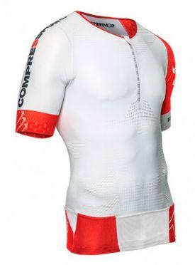 Compressport Tr3 aero top compressie shirt wit