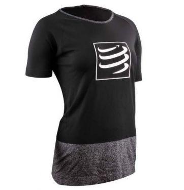 Compressport Training t-shirt zwart dames