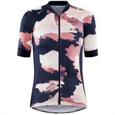 Craft Advanced Endurance Graphic fietsshirt blauw/roze SS dames
