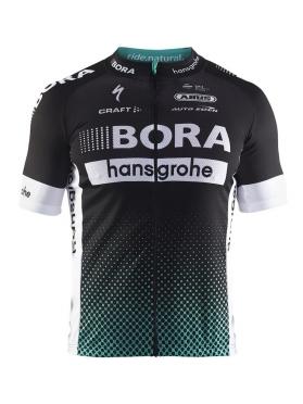 Craft Bora Hansgrohe Replica Fietsshirt Korte Mouwen Zwart/Wit/Groen