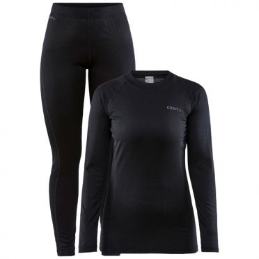 Craft Core Warm thermo onderkleding set zwart dames