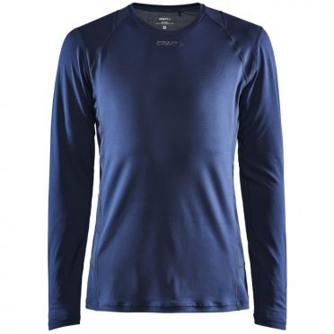 Craft Essence slim hardloopshirt LS donkerblauw heren