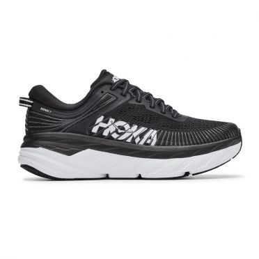 Hoka One One Bondi 7 hardloopschoenen zwart/wit dames