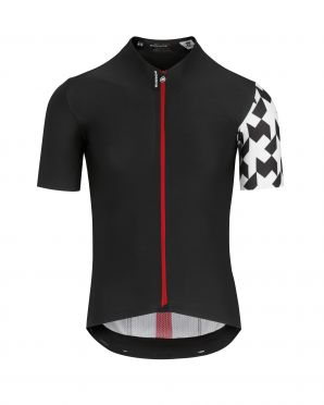 e3187f5554d957 Assos Equipe RS Aero korte mouw fietsshirt zwart heren