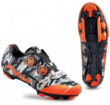 Northwave Extreme XCM MTB mountainbikeschoen zwart/oranje-fluo heren