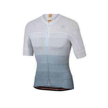 Sportful Bodyfit pro evo fietsshirt korte mouwen wit/grijs heren