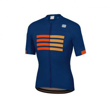 Sportful Wire fietsshirt korte mouwen blauw heren