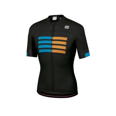 Sportful Wire fietsshirt korte mouwen zwart heren