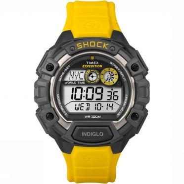 Timex Global Shock horloge zwart/geel