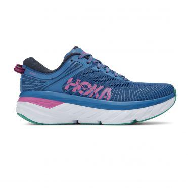 Hoka One One Bondi 7 hardloopschoenen blauw/roze dames