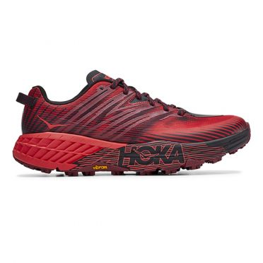 Hoka One One Speedgoat 4 trail hardloopschoenen rood heren