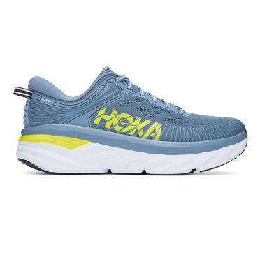 Hoka One One Bondi 7 hardloopschoenen blauw/geel heren