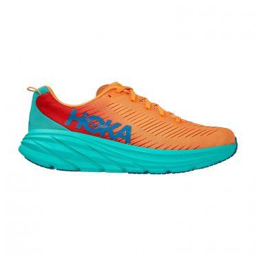 Hoka One One Rincon 3 hardloopschoenen blauw/oranje heren