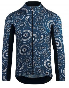 Assos Mille GT lange mouw fietsshirt blauw heren