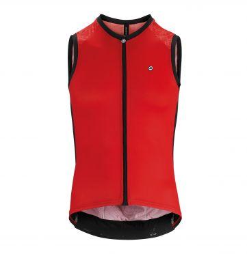 Assos Mille GT NS mouwloos Fietsshirt rood heren